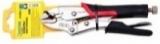 """Зажим гейферный Partner PA-01004L-7 с прорезиненной рукояткой """"profi"""" CR-V 7""""-180мм, на пластиковом держателе"""